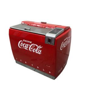 Frigo glaciere Coca Cola des années 1950 restaurée