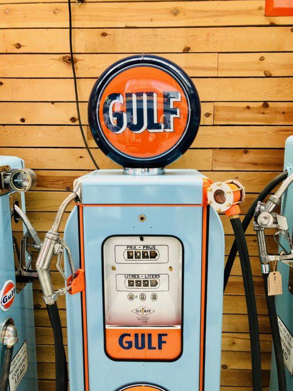 pompe à essence Gulf SATAM de 1950