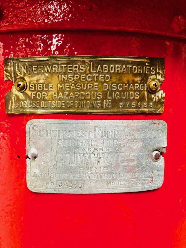 Pompe à essence américaine Texaco southwest