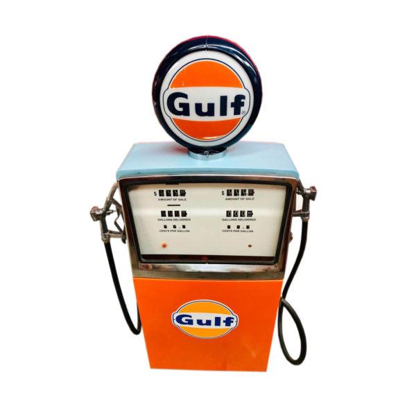 Pompe à essence Gulf double Restaurée de 1957