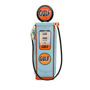 Gulf satam vintage restored gas pump from 1950.