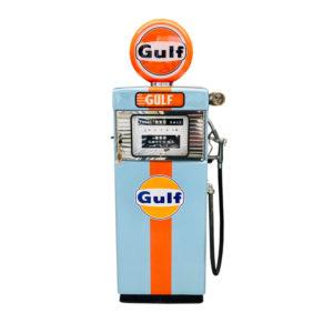 Gulf Wayne American restored gas pump from 1951