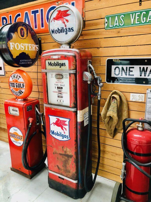 Pompe à essence Américaine Mobilgas 1955