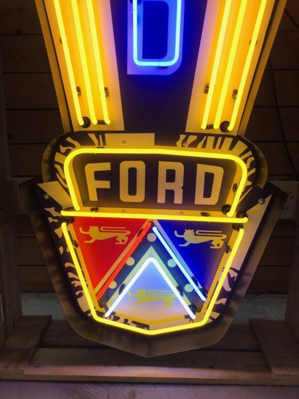 Enseigne Néon Ford emblème 1950