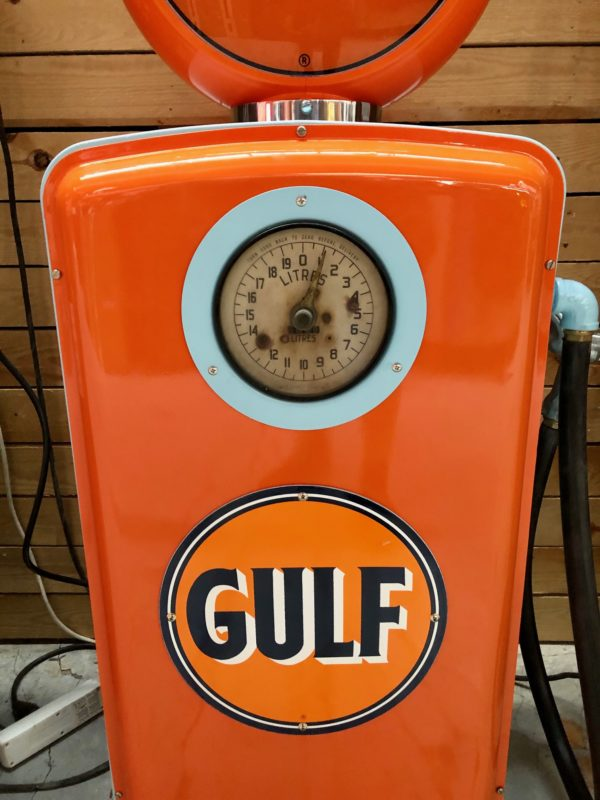 Pompe à essence américaine restaurée