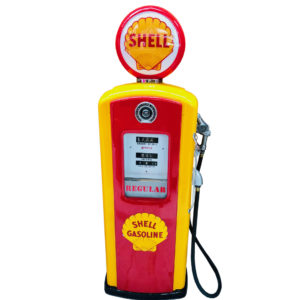 Shell Bennett Restored 1957 american gas pump
