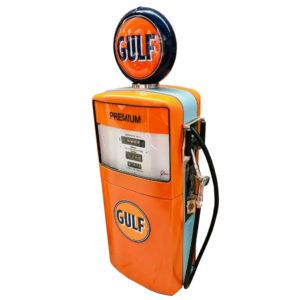 Pompe à essence Gulf Gilbarco américaine .