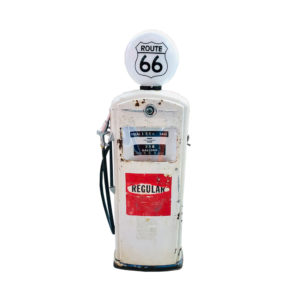 Bennett Route 66 vintage American gas pump