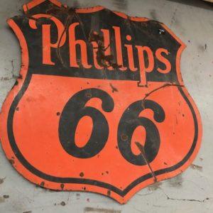 Plaque émaillée américaine Phillips 66 (175cm)