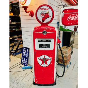 Ancienne Pompe à essence Texaco Bennett de 1948