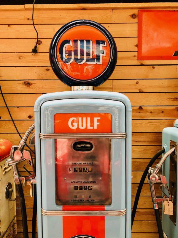 Pompe à essence Américaine Gulf Gilbarco de 1955