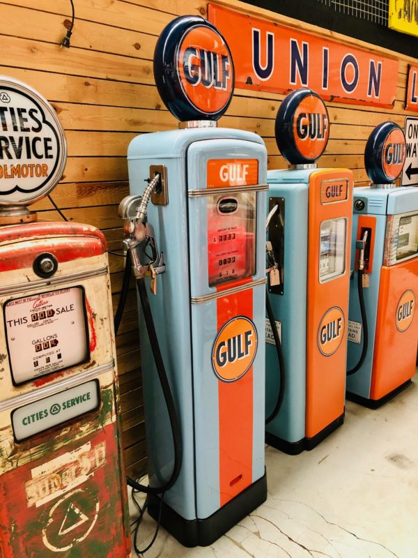 Pompe à essence Américaine Gulf de 1955