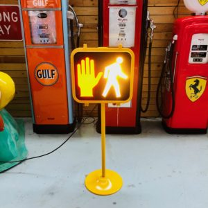 Restored American pedestrian traffic light 127cm