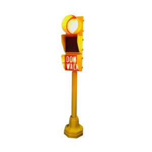American traffic light don't walk 245cm high