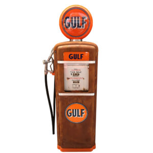 Gulf Gilbarco American gas pump, original paint from 1955