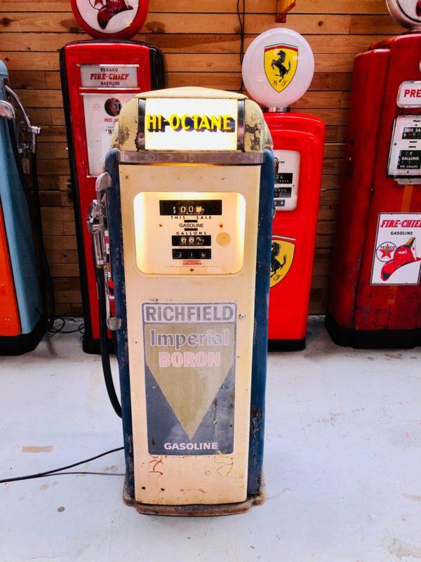 Pompe à essence américaine Richfield de 1955