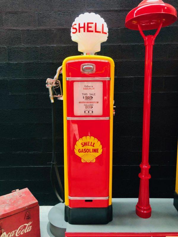Pompe à essence américaine shell globe