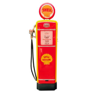 Shell Gilbarco American restored gas pump from 1955