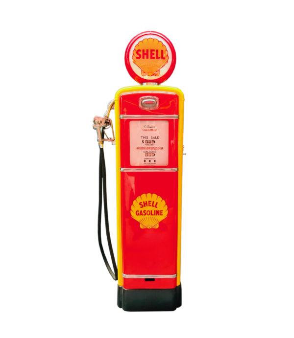 Pompe à essence américaine Shell Gilbarco restaurée de 1955