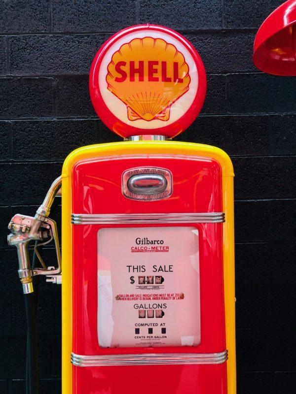 Pompe à essence américaine Shell Gilbarco de 1955