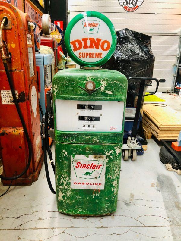 Pompe à essence américaine Sinclair Gilbarco dans son jus 3