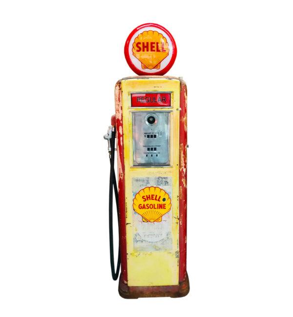 Pompe à essence Shell Neptune Américaine de 1939 dans son jus