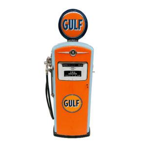 Pompe à essenceGulf bennett de 1954 restaurée