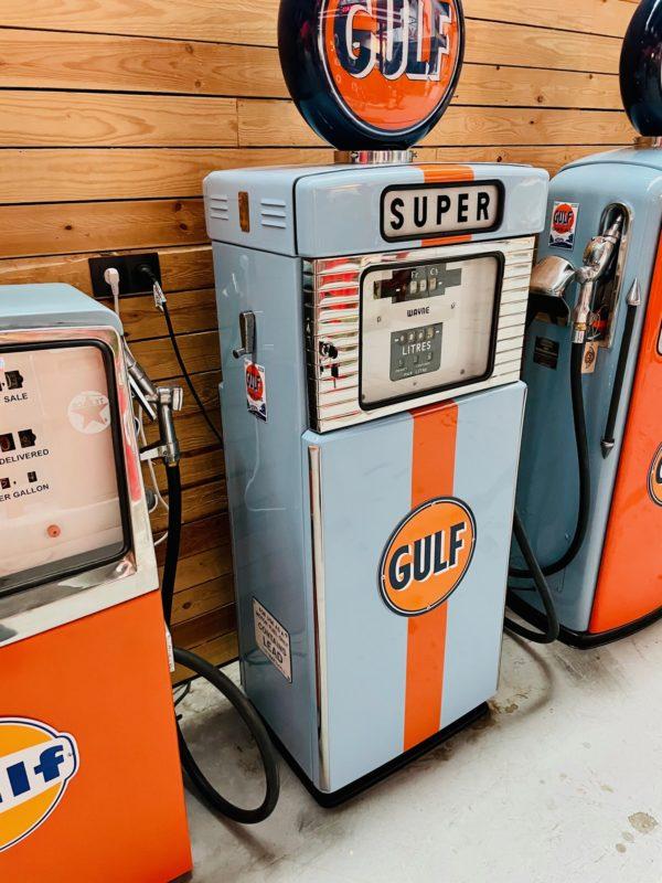 Pompe à essence Gulf wayne 500 restaurée