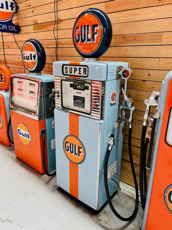 Pompe à essence Gulf wayne restaurée de 1950