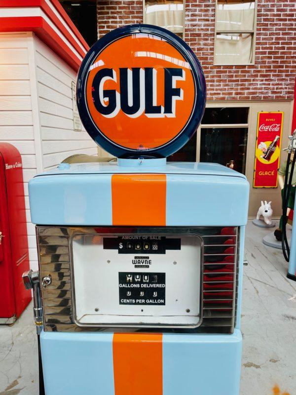 Pompe à essence américaine Gulf restaurée 1