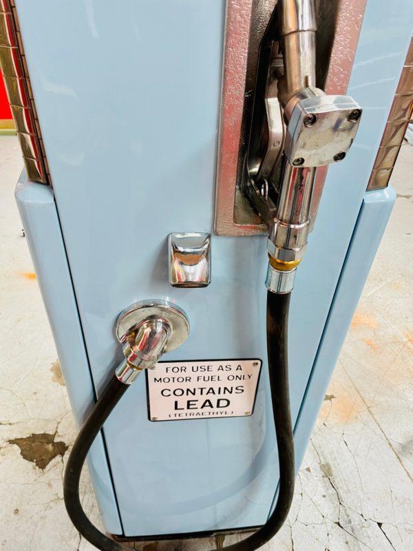 Pompe à essence américaine Gulf coté