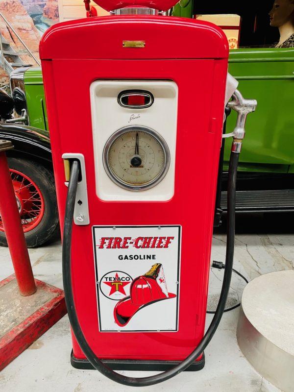 pompe à essence Texaco Fire chief restauré