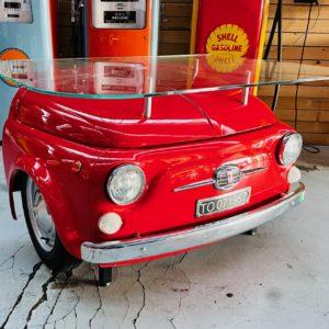 Bureau Fiat 500 (en métal) les phares s'allumes