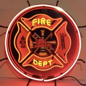 Enseigne Néon Fire Department 60 cm