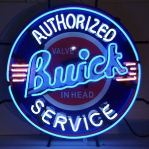 Enseigne Néon Buick authorized service 60 cm