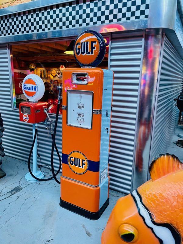 Pompe à essence américaine Gulf Bowser 1948restaurée