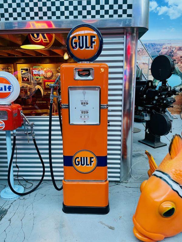 Pompe à essence américaine Gulf de 1948restaurée