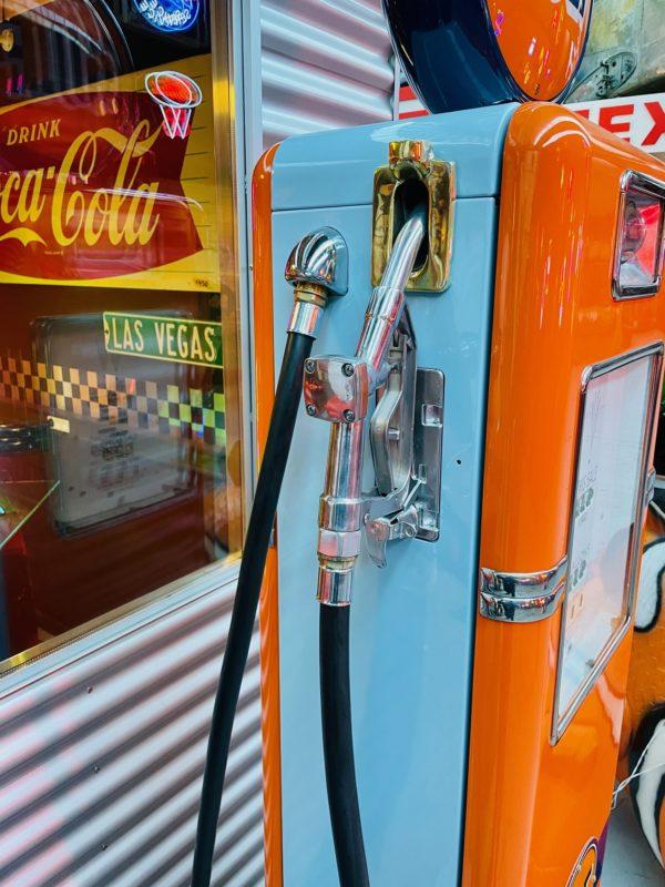Pompe à essence américaine Gulf restaurée 1948 b