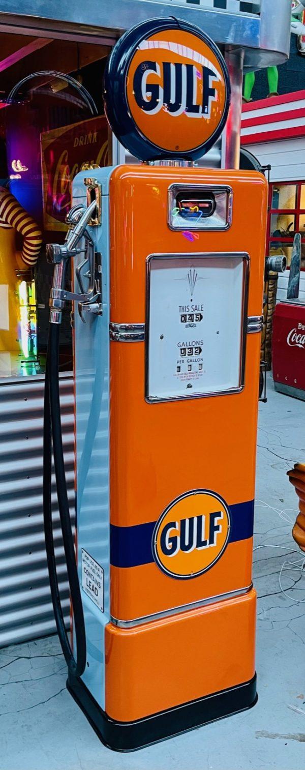Pompe à essence américaine Gulf restaurée 1948 c