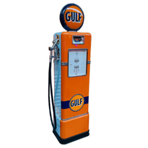 Gulf Bowser american restored gas pump from 1948