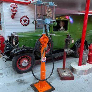 Pompe à essence Gulf de 1920 restaurée