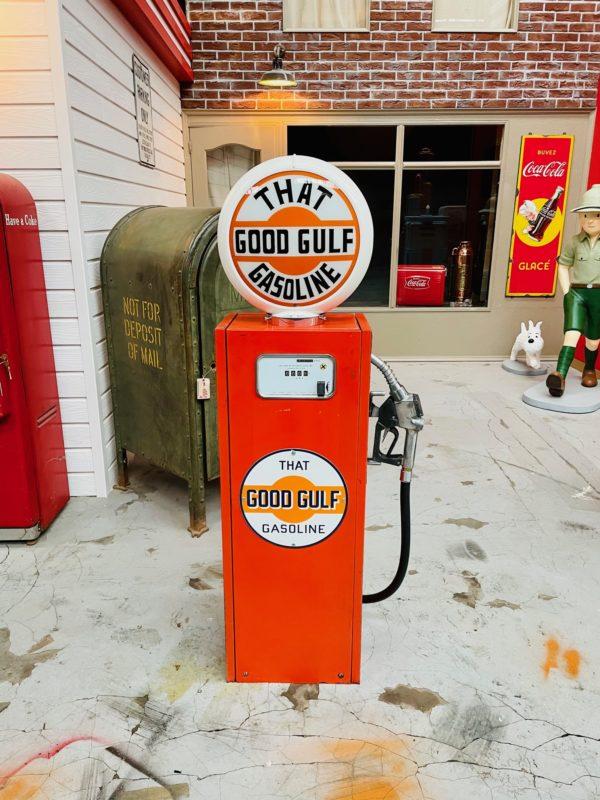 Pompe à essence Gulf peinture d'origine 1