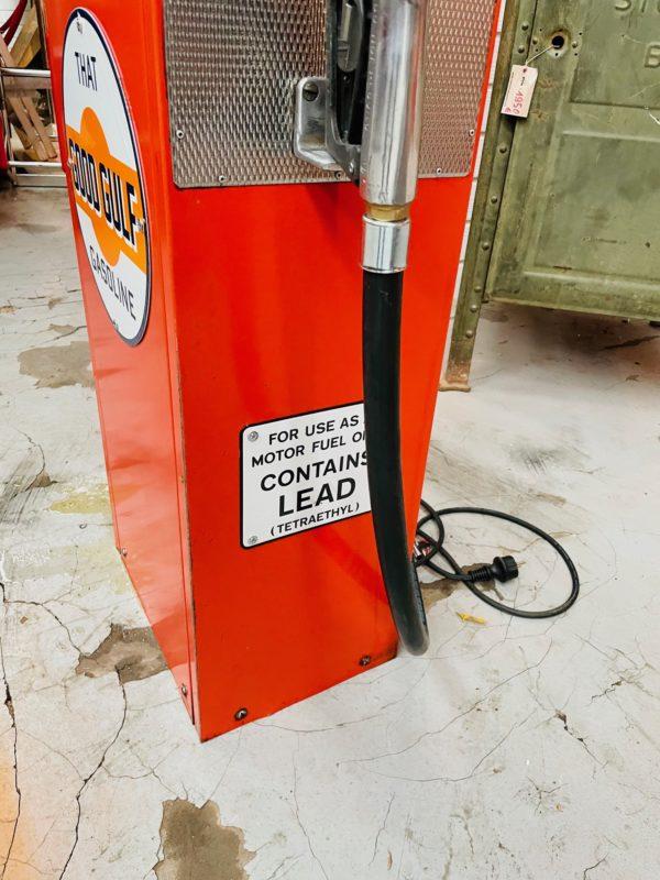 Pompe à essence Gulf peinture d'origine 3