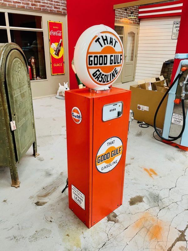 Pompe à essence Gulf peinture d'origine 4