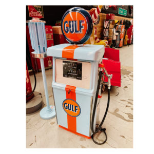 Pompe à essence américaine Gulf Wayne de 1960 restaurée