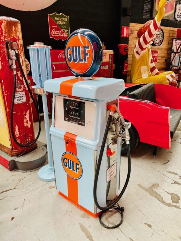 Pompe à essence américaine Gulf 1960 restaurée