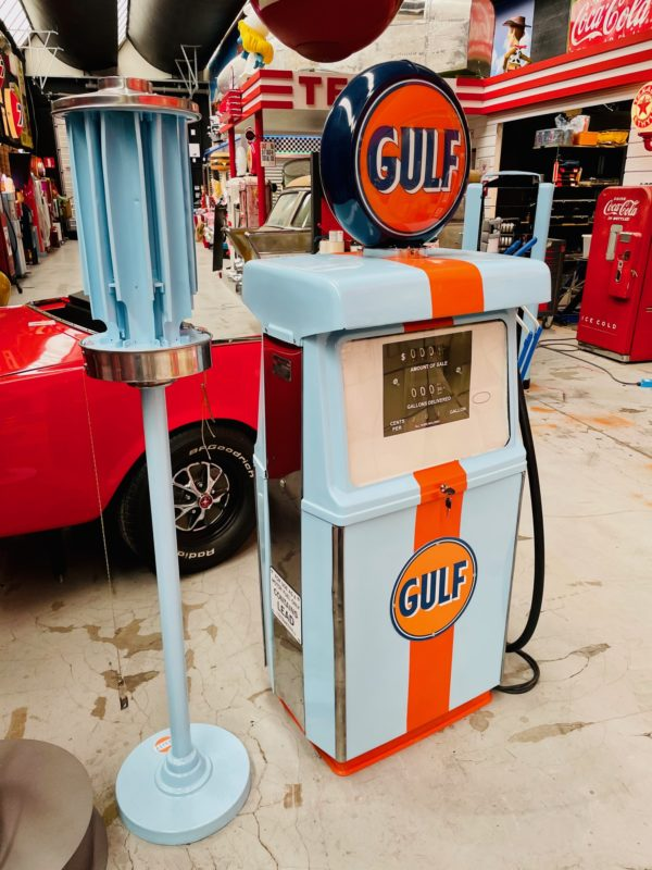 Pompe à essence américaine Gulf Wayne 1960 restaurée