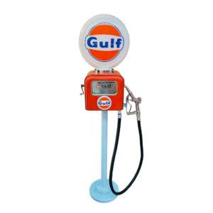 Pompe à essence Gulf Gasboy avec opaline en verre