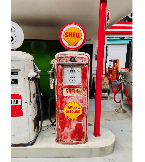 Pompe à essence américaine Shell Gilbarco
