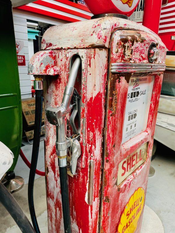 Pompe à essence américaine Shell Gilbarco 3